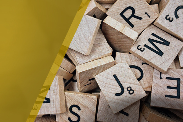 wooden tiles with letters on them